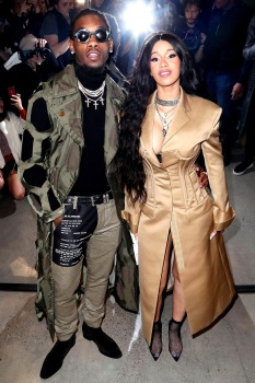 Mandatory Credit: Photo by Matt Baron/Shutterstock (9373981co) Cardi B and Offset in the front row Prabal Gurung show, Front Row, Fall Winter 2018, New York Fashion Week, USA - 11 Feb 2018